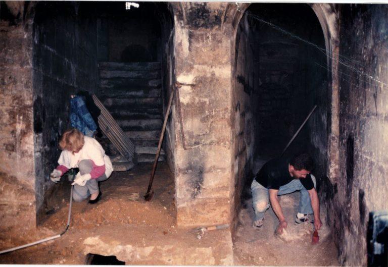 Chantier à la maison du Fontainier en 1994
