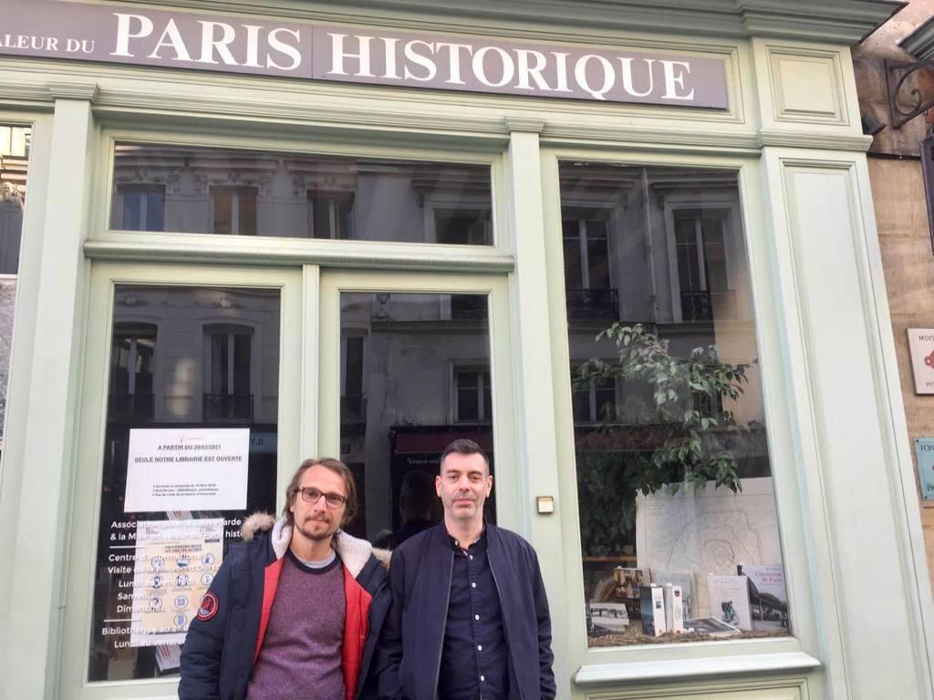 Lorànt Deutsch et Gregory Chaumet à Paris historique