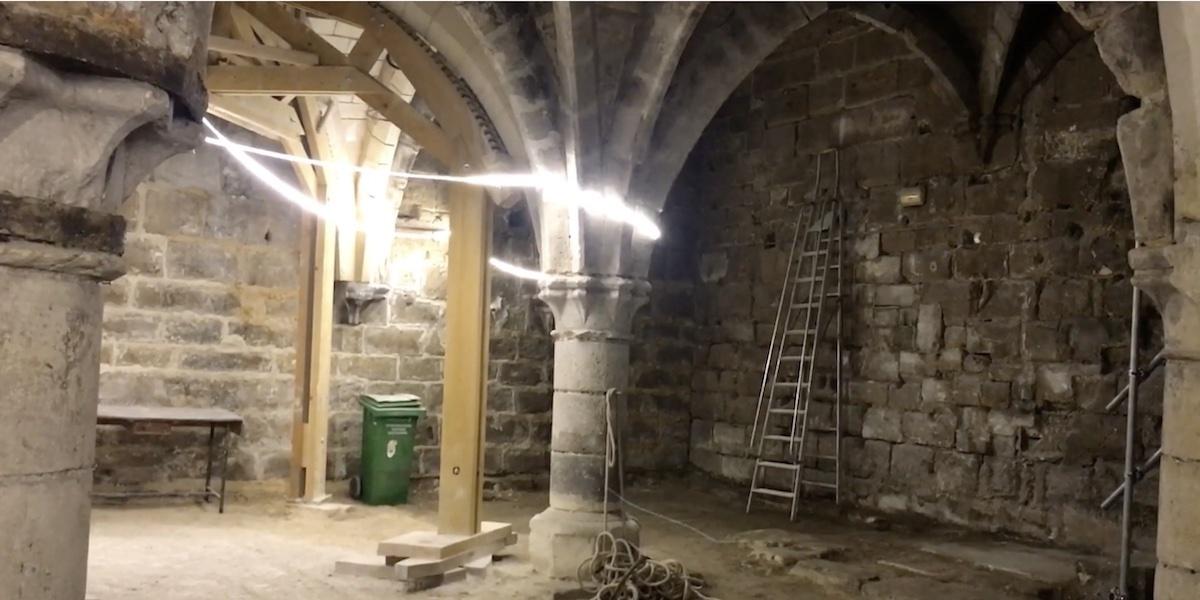 Restauration du cellier ourscamp août 21