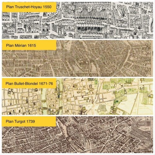 Plans de Paris en vente à Paris historique