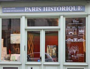 Paris historique vitrine